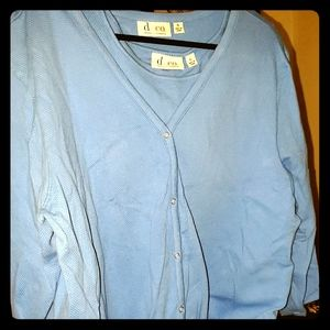 XL light blue buttonup jacket/under shirt